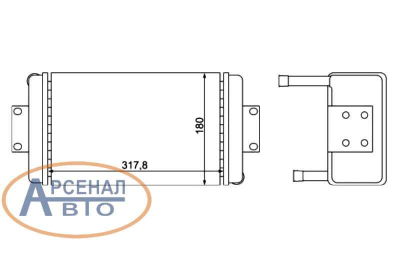 Схема радиатора отопителя