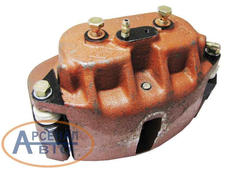 Скоба переднего тормоза - штуцера для подключения гидрошлангов