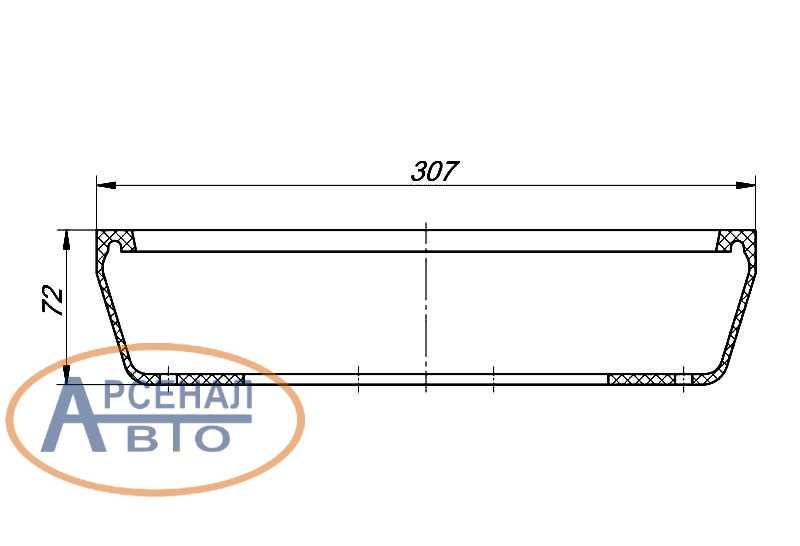 Размеры уплотнителя люка рычага КПП