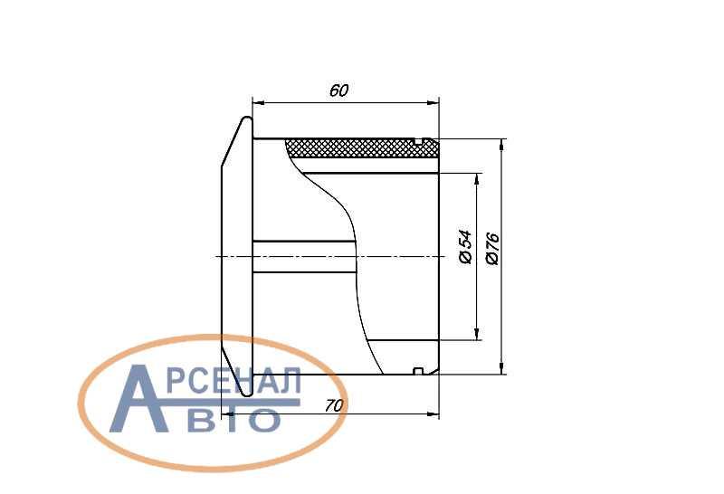 Сечение и размеры подушки стабилизатора КамАЗ-6520