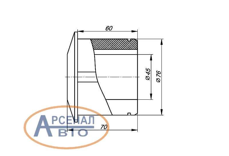Схема и размеры подушки стабилизатора КамАЗ-65115