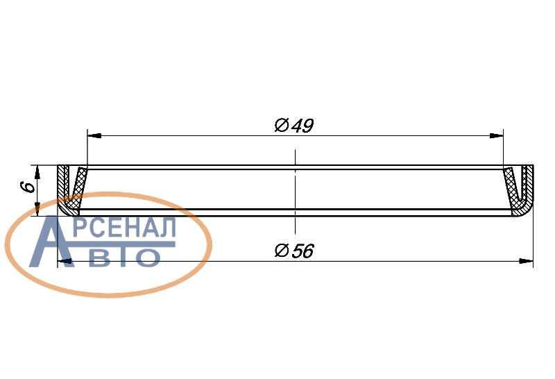 Размеры сальника шкворня КамАЗ
