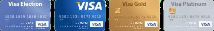 виды платежных карточек VISA